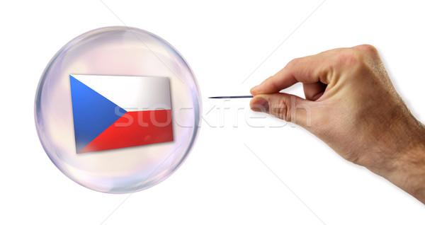 Tsjechisch economisch bubble naald straat Europa Stockfoto © klublu
