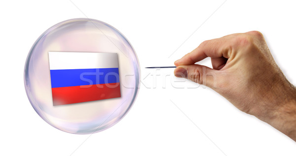 Russian economic Bubble about to explode by a needle  Stock photo © klublu