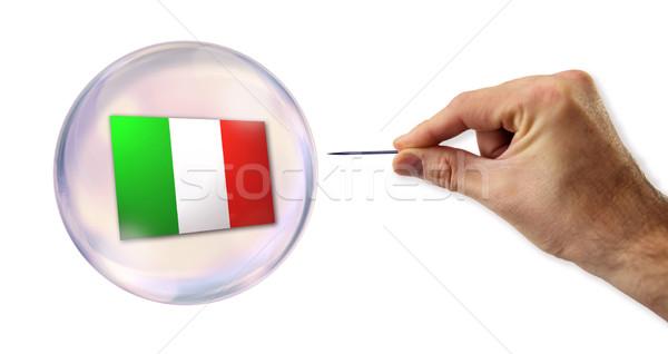 Italiaans economisch bubble markt financiële verkoop Stockfoto © klublu