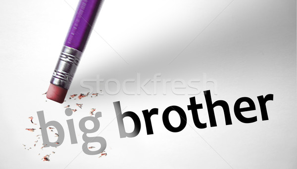 Eraser deleting the concept Big Brother  Stock photo © klublu