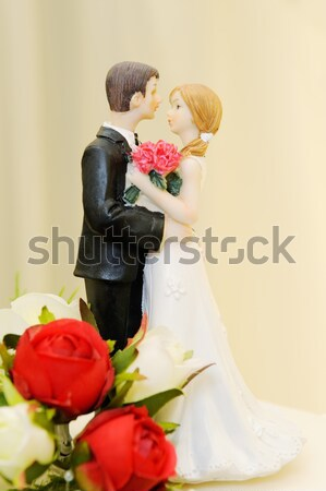 Wedding cake and topper Stock photo © KMWPhotography