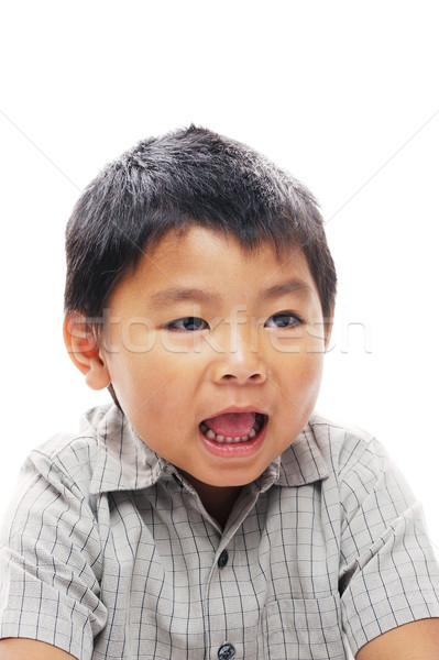 Asian boy with mouth open Stock photo © KMWPhotography