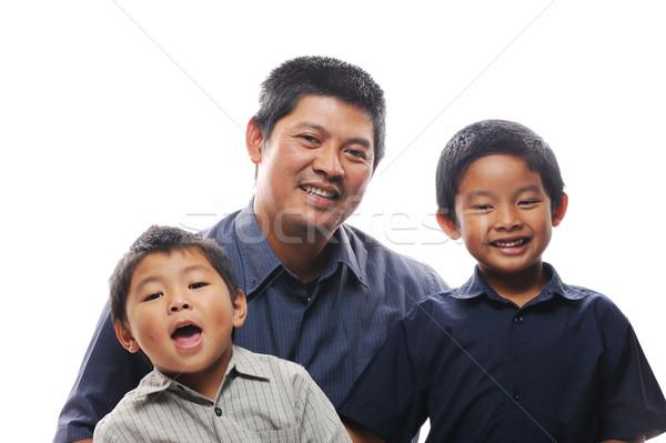 Baba yapıştırma Asya mutlu sevmek Stok fotoğraf © KMWPhotography
