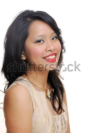 Souriant asian fille regarder heureux Photo stock © KMWPhotography