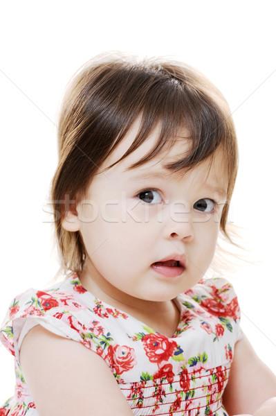 Perplexed little girl Stock photo © KMWPhotography