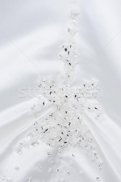 Gelinler elbise dekorasyon makro detay Stok fotoğraf © KMWPhotography