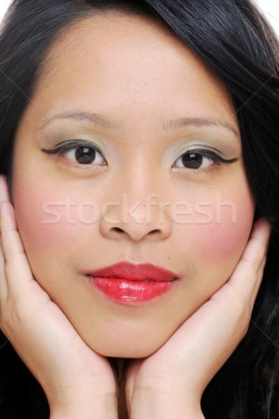 лице азиатских Природные красоты женщину Сток-фото © KMWPhotography