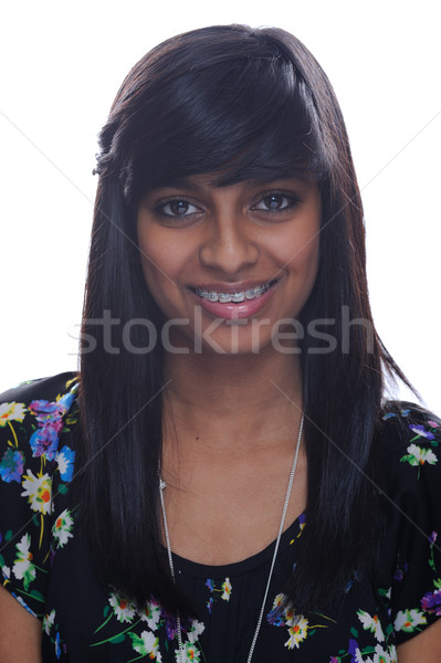 Asian girl with brace Stock photo © KMWPhotography
