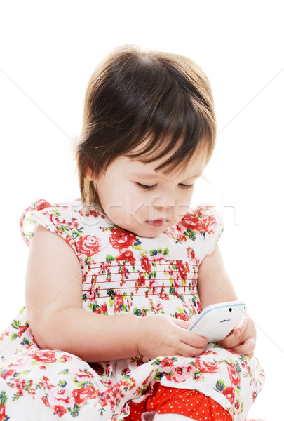 Toddler texting Stock photo © KMWPhotography