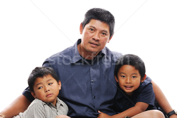 Asian Father with sons Stock photo © KMWPhotography