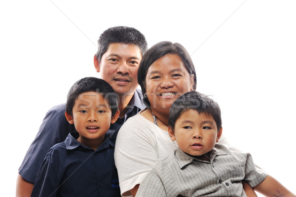 Asian Family Smiling Stock photo © KMWPhotography