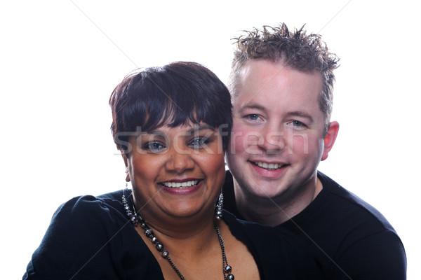 Szerető pár szeretet férfi boldog fiatal Stock fotó © KMWPhotography