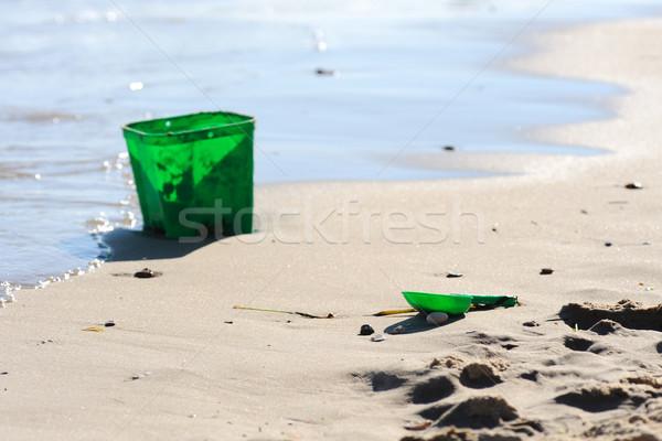Yeşil kova maça Stok fotoğraf © KMWPhotography
