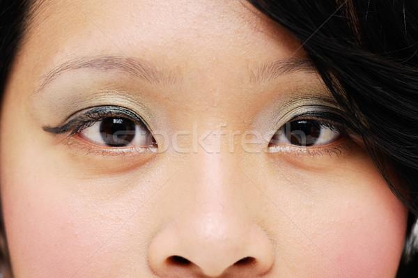 Gözler Asya bakıyor ileri moda Stok fotoğraf © KMWPhotography