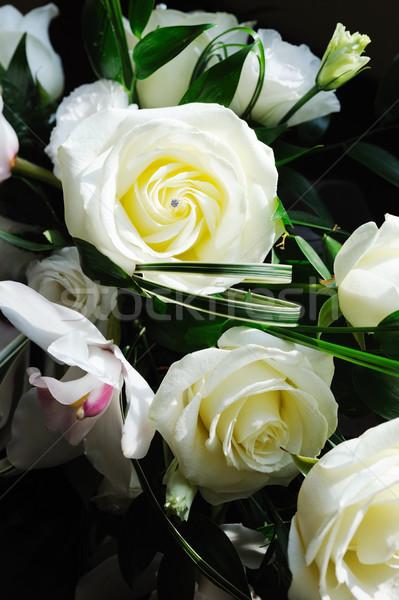 невест белый закрывается букет Сток-фото © KMWPhotography