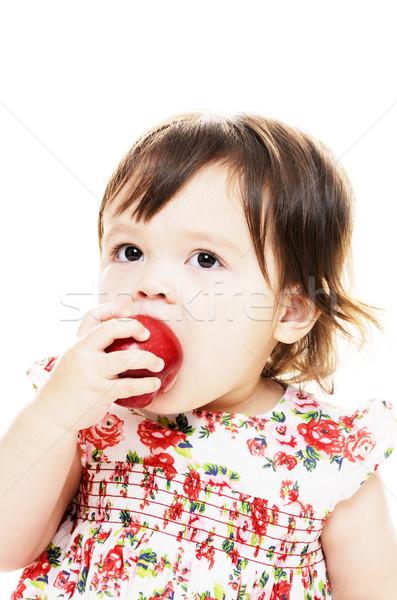 Meyve genç bebek kız yeme Stok fotoğraf © KMWPhotography