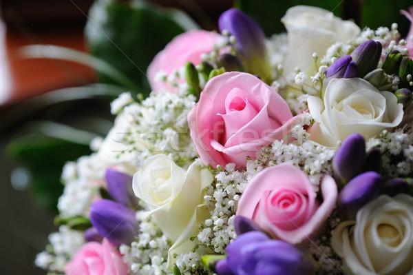 невест цветы букет розовый роз Сток-фото © KMWPhotography