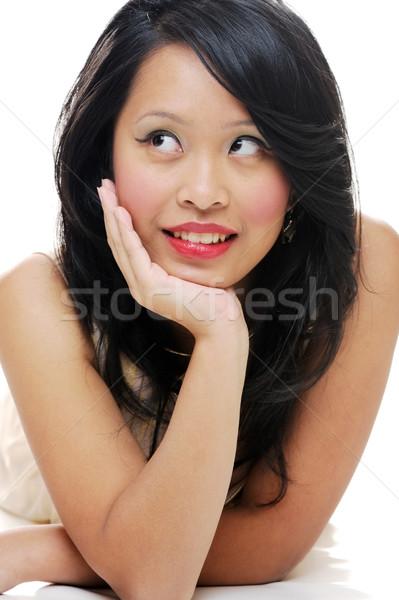 Mooie asian meisje dame poseren Stockfoto © KMWPhotography