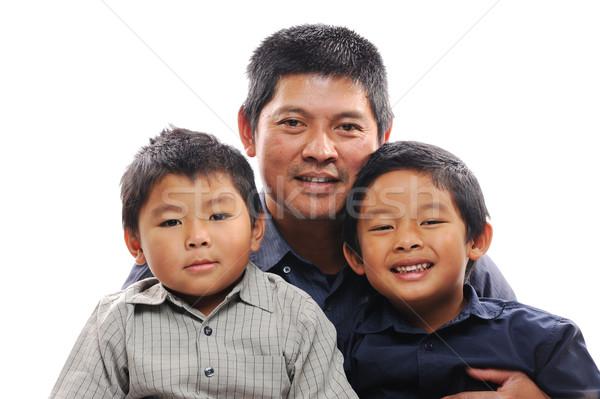 Vader asian naar gelukkig liefde kinderen Stockfoto © KMWPhotography