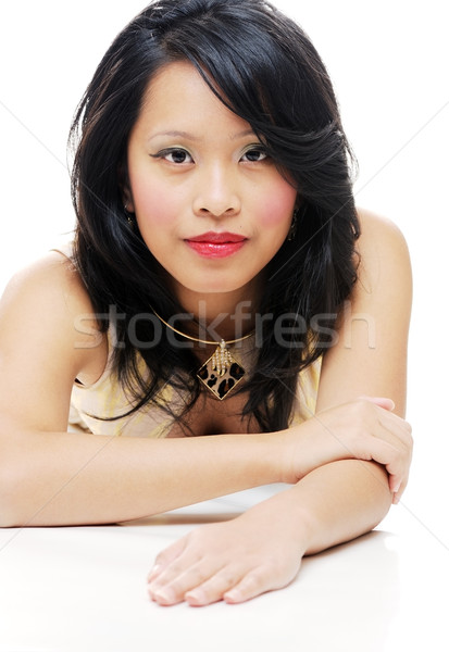 Beauté portrait asian fille posant regarder Photo stock © KMWPhotography