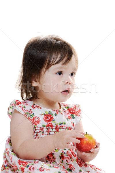 Girl with apple Stock photo © KMWPhotography