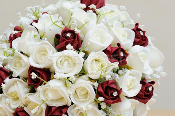 Yapay çiçekler gelinler buket düğün Stok fotoğraf © KMWPhotography