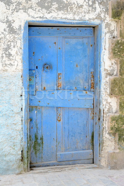 Blue door Morocco Stock photo © KMWPhotography