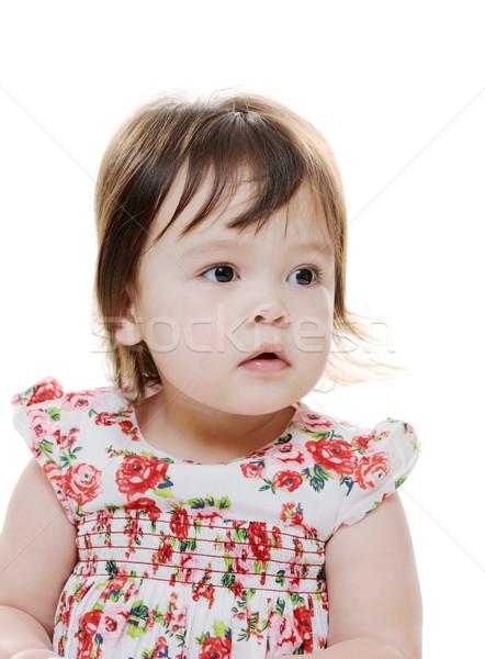 Portre genç bebek kız Stok fotoğraf © KMWPhotography