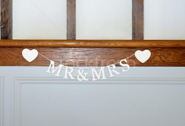 Dekorasyon sevmek evli romantizm Stok fotoğraf © KMWPhotography