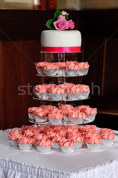 свадьба Кубок торты таблице при Сток-фото © KMWPhotography