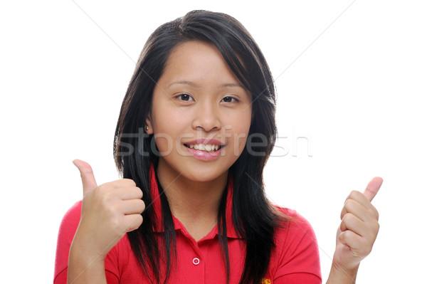 Lány néz boldog ázsiai remek divat Stock fotó © KMWPhotography