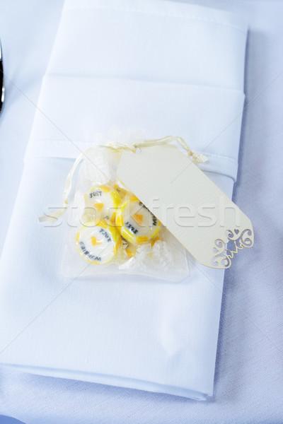 свадьба конфеты салфетку Сток-фото © KMWPhotography