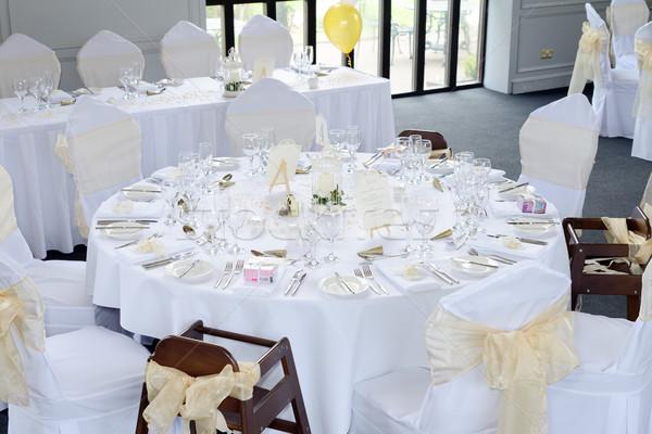 Recepção de casamento tabela decorações casamento olhando caro Foto stock © KMWPhotography