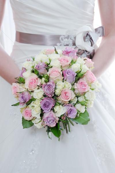 невест цветы букет розовый Purple Сток-фото © KMWPhotography