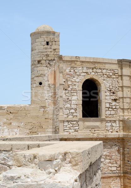 Forte Marrocos antigo edifício parede azul Foto stock © KMWPhotography