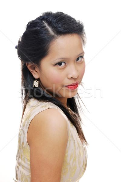 Kız Asya portre Stok fotoğraf © KMWPhotography