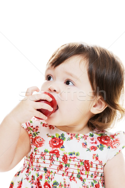 Manger fruits frais portrait jeunes Photo stock © KMWPhotography