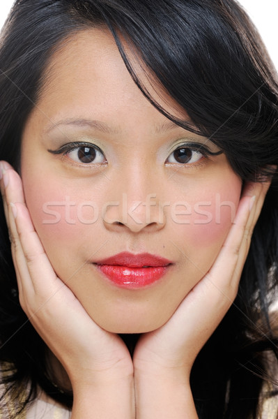 Belle fille asian filles visage maquillage Photo stock © KMWPhotography