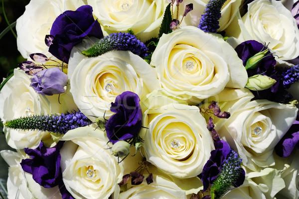 Bruiden bloemen witte steeg Stockfoto © KMWPhotography