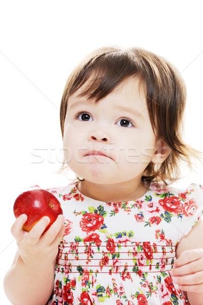 Tat elma tatma kırmızı taze Stok fotoğraf © KMWPhotography
