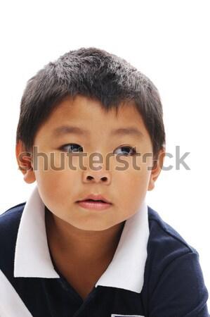 Asian jongen Filippijnen naar ernstig Stockfoto © KMWPhotography
