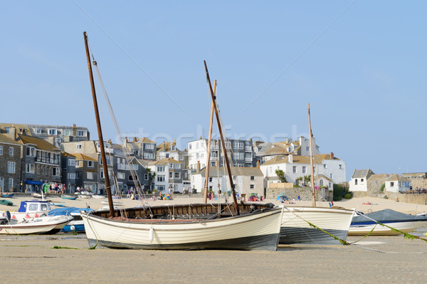 Fishing boats on beach Stock photo © KMWPhotography