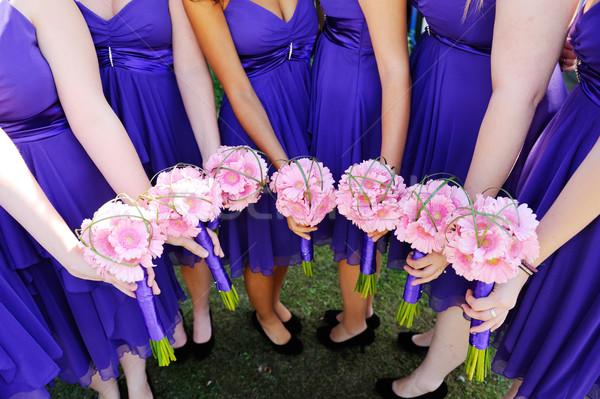 Fiori rosa wedding ragazze evento petali Foto d'archivio © KMWPhotography