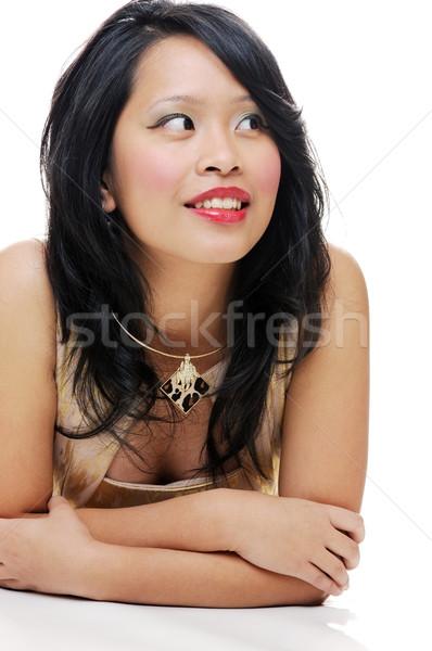 девушки азиатских Lady улыбаясь женщину Сток-фото © KMWPhotography