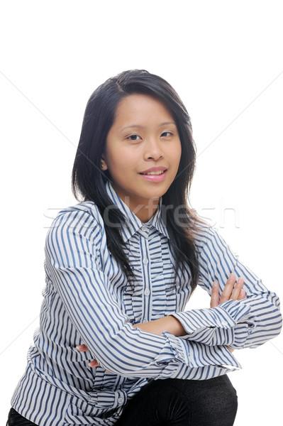 азиатских бизнеса Lady глядя Smart готовый Сток-фото © KMWPhotography