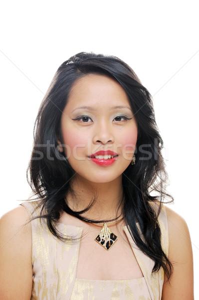 Portré ázsiai tinilány néz boldog nő Stock fotó © KMWPhotography