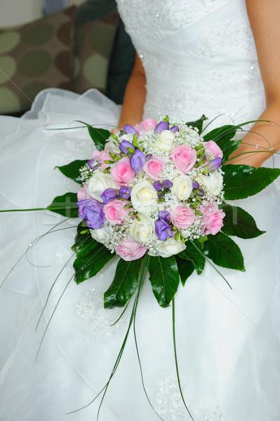 невест цветы невеста посмотреть Сток-фото © KMWPhotography