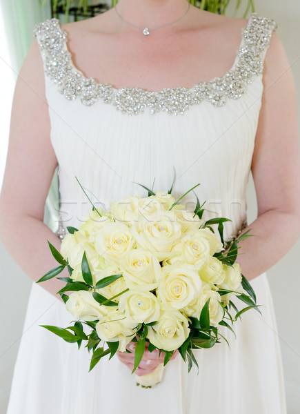 Menyasszony tart virágcsokor menyasszonyok virág egyezség Stock fotó © KMWPhotography