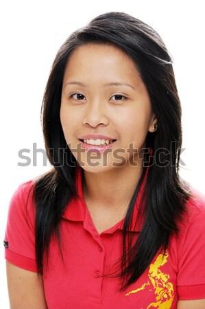 азиатских Lady подростков женщины красный Сток-фото © KMWPhotography