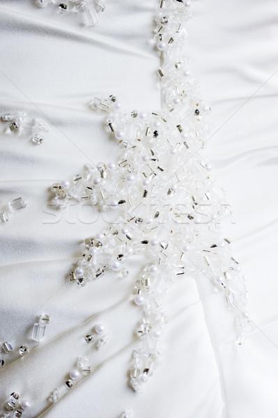 Spose abito dettaglio primo piano wedding giorno Foto d'archivio © KMWPhotography
